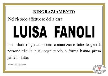 Ringraziamenti per Luisa Fanoli