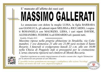 Necrologio di Massimo Gallerati