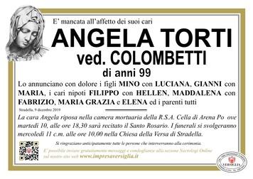 Necrologio di TORTI ANGELA