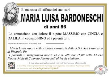 Necrologio di Bardoneschi Maria Luisa