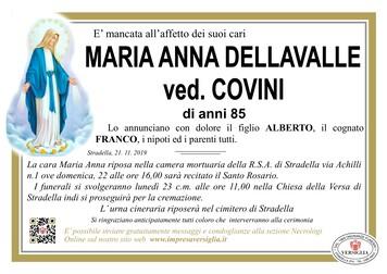 Necrologio di DELLAVALLE MARIA ANNA