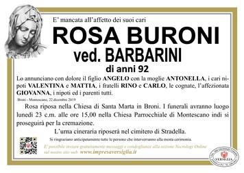 Necrologio di BURONI ROSA