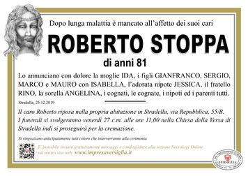 Necrologio di Stoppa Roberto