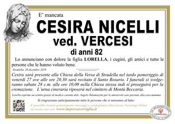 Necrologio di NICELLI CESIRA