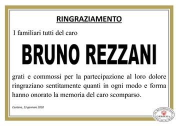 Ringraziamenti per Rezzani Bruno