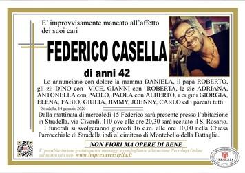 Necrologio di Casella Federico