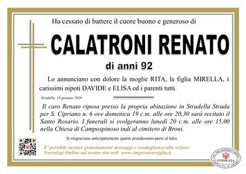 Necrologio di CALATRONI RENATO