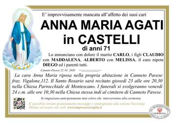 Necrologio di Agati Anna Maria