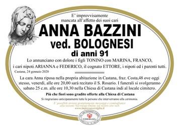 Necrologio di Bazzini Anna