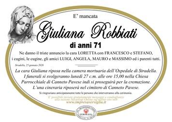 Necrologio di Robbiati Giuliana