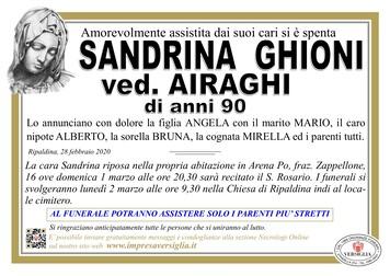 Necrologio di Ghioni Sandrina