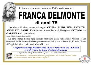 Necrologio di Delmonte Franca