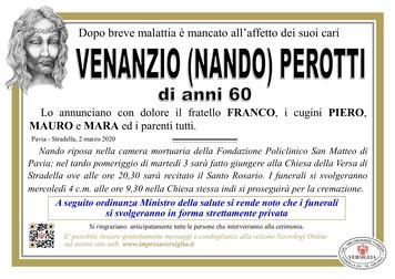 Necrologio di Perotti Venanzio (Nando)