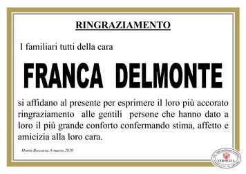Ringraziamenti per Delmonte Franca