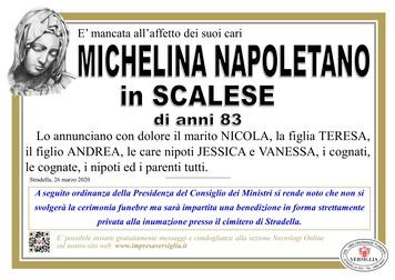 Necrologio di Napoletano Michelina
