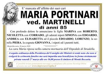 Necrologio di Portinari Maria
