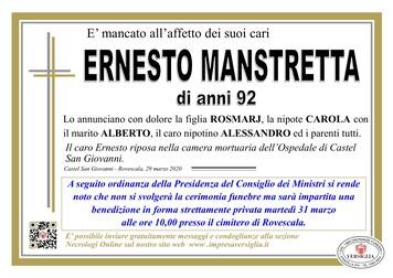 Necrologio di MANSTRETTA ERNESTO