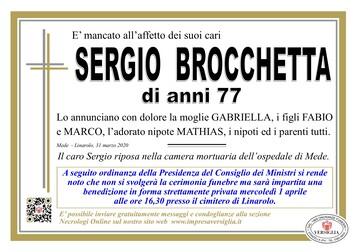 Necrologio di Brocchetta Sergio