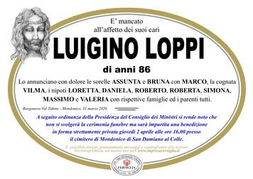 Necrologio di Loppi Luigino