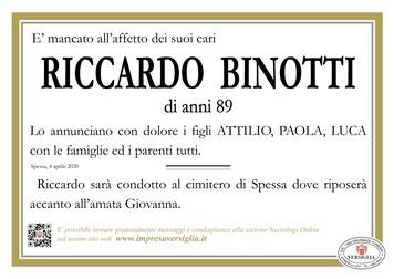 Necrologio di Binotti Riccardo
