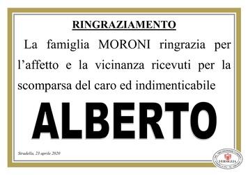 Ringraziamenti per Moroni dott. Alberto