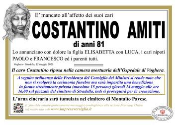 Necrologio di Amiti Costantino