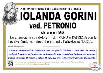Necrologio di Iolanda Gorini