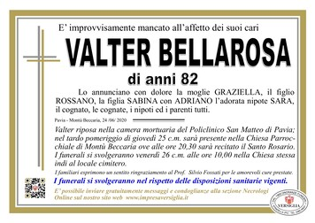 Necrologio di Bellarosa Valter