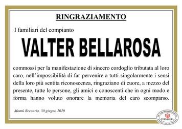 Ringraziamenti per Bellarosa Valter