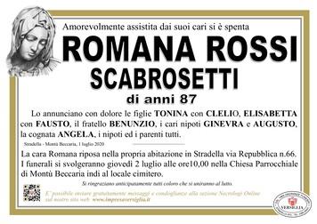 Necrologio di ROSSI ROMANA