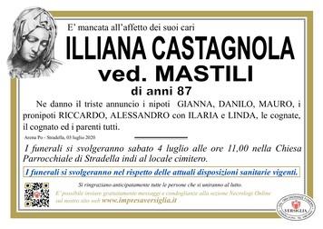 Necrologio di Castagnola Illiana