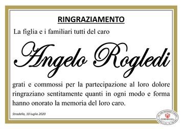 Ringraziamenti per Angelo Rogledi