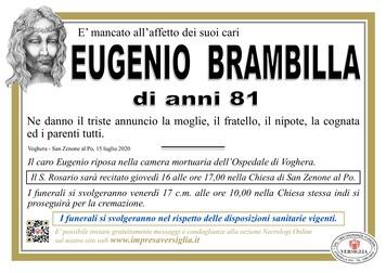 Necrologio di Eugenio Brambilla