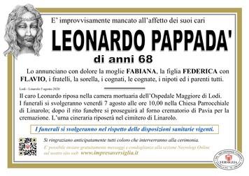 Necrologio di PAPPADA' LEONARDO