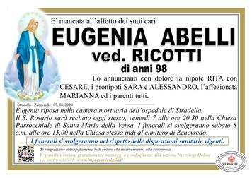 Necrologio di ABELLI EUGENIA