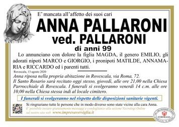 Necrologio di PALLARONI ANNA