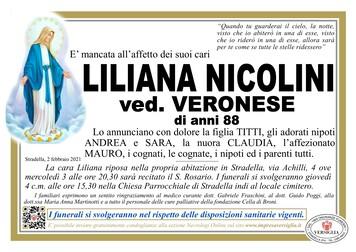 Necrologio di NICOLINI LILIANA