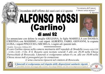 Necrologio di ROSSI ALFONSO (Carlino)