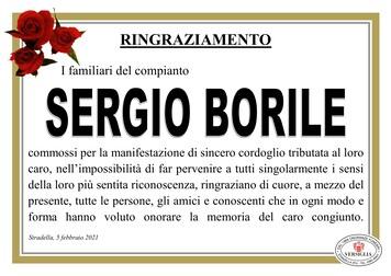 Ringraziamenti per BORILE SERGIO