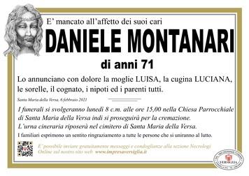 Necrologio di MONTANARI DANIELE