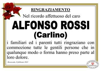 Ringraziamenti per ROSSI ALFONSO (Carlino)