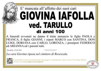 Necrologio di IAFOLLA GIOVINA