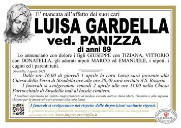Necrologio di GARDELLA LUISA