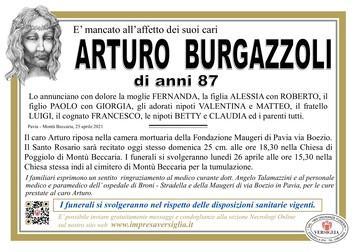 Necrologio di Burgazzoli  Arturo