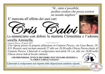 Necrologio di CALVI CRIS