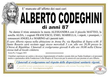 Necrologio di CODEGHINI ALBERTO