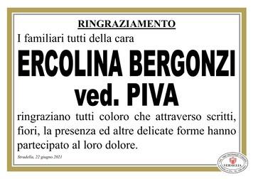 Ringraziamenti per BERGONZI ERCOLINA