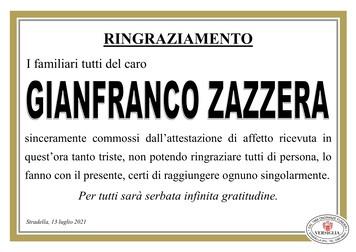 Ringraziamenti per ZAZZERA GIANFRANCO