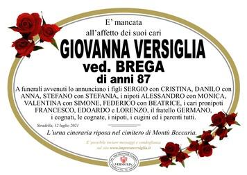 Necrologio di VERSIGLIA GIOVANNA