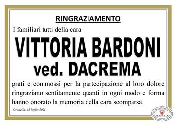 Ringraziamenti per Bardoni Vittoria Maria